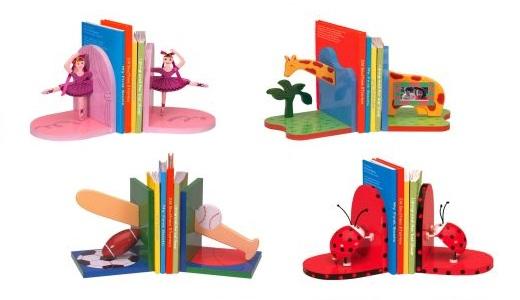 תומך ספרים מעוצב לחדר הילדים